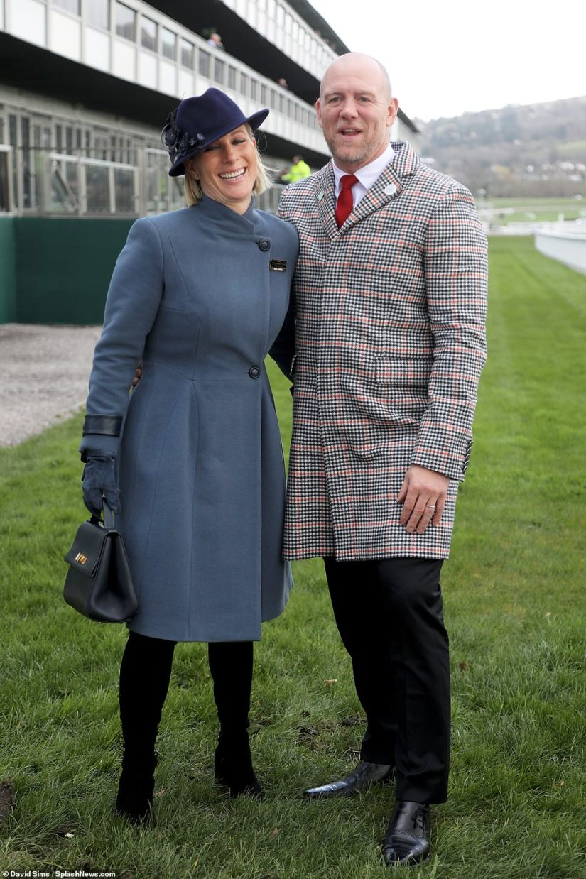Zara Tindall and her husband and former England rugby player Mike could be at the funeral. They are pictured at Cheltenham last year