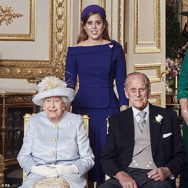 The Queen's granddaughter (pictured with Her Majesty and Prince Philip at Princess Eugenie's wedding in 2018) has disclosed words of wisdom inspired by the late Duke of Edinburgh, who died yesterday at Windsor Castle in the age 99, while speaking at a virtual event.  at 8:40 p.m. on March 31