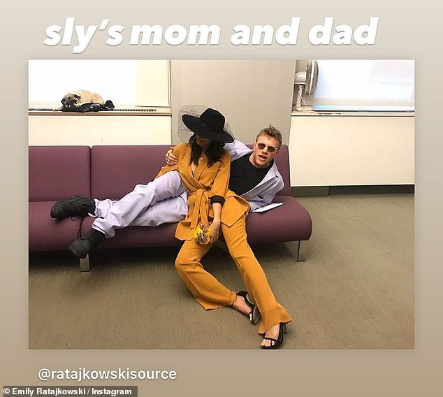 Seen on Instagram:Last month, Emily welcomed her newborn baby boy Sylvester Apollo Bear along with her husband of three years, film producer Sebastian Bear-McClard