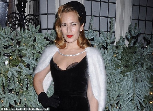 Charlotte Olympia Dellal, the granddaughter of shoe designer of billionaire real estate mogul 'Black' Jack Dellal, pictured at the tablescapes launch party at Mark's Club, London in 2019