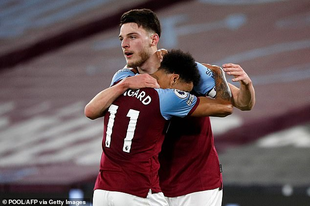 West Ham will reportedly not include Declan Rice in any permanent move for Manchester United loanee Jesse Lingard