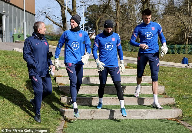 Johnstone's (second left) form earned his a first senior England call-up last month