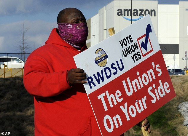 Amazon's defeat of union organizing effort shows the harsh realities facing  US labor movement   Daily Mail Online