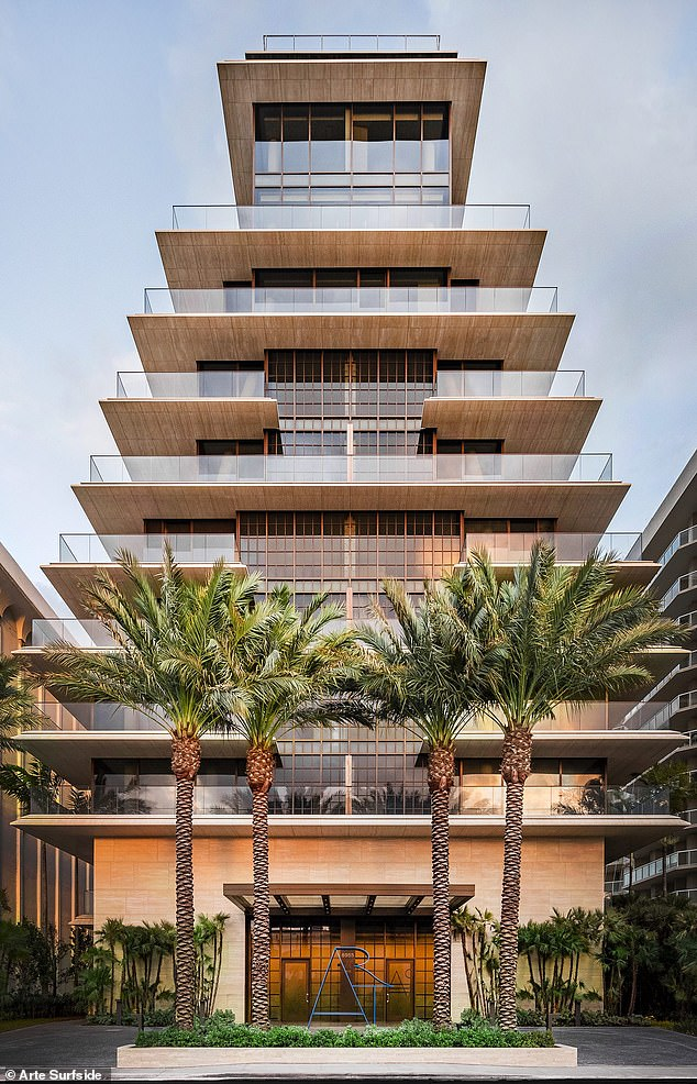 Ivanka and Jared signed a one-year lease on a condominium in one of Miami's most coveted oceanfront buildings, Arte Surfside (pictured), the Wall Street Journal reported in January