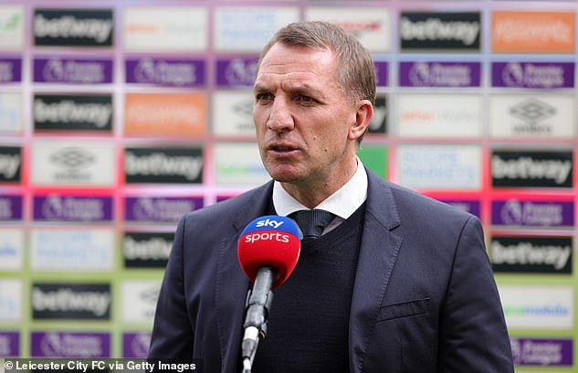 Leicester boss Brendan Rodgers left the trio ashamed of Premier League clash at West Ham
