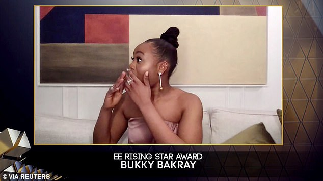 Talent: In a statement, Bukky said of the award: 'Thank you very much bafta and EE, I appreciate this so much'