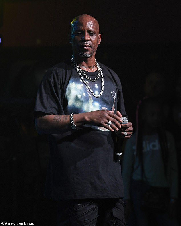 Sad: In his acceptance speech, Bukky paid tribute to the American rapper and actor DMX who died at the age of 50 on Saturday, five days after suffering a heart attack