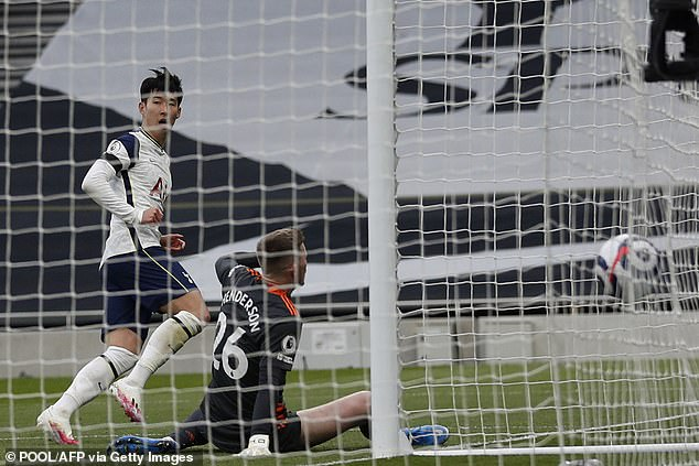 Son Heung-min put Tottenham ahead after 40 minutes against Manchester United on Sunday