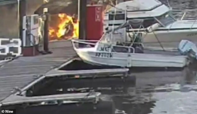 The boat exploded when the skipper turned on the ignition, the force knocking those on the stern to the ground