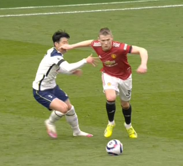 Solskjaer said Spurs winger Son 'would not get any food' if he was his child after going to ground to get a United goal disallowed
