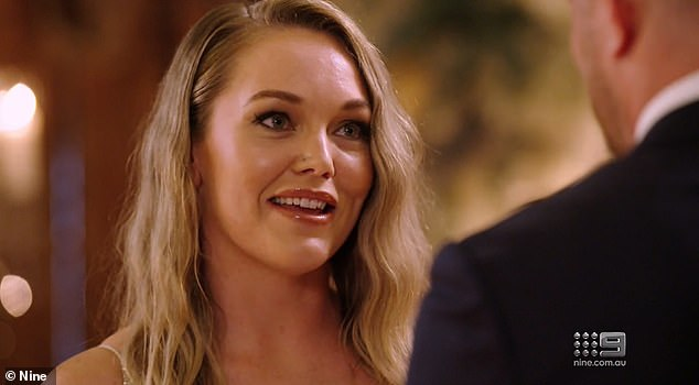 Staying: Melissa admitted rumours that Bryce had a secret girlfriend in Canberra had shaken her trust.However, she concluded: 'In my vows, I said that I wanted to find unconditional love. I stand before you today having found all of that and more in you'