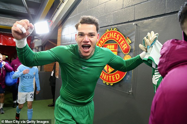 City goalkeeper Ederson confronted the then-United manager in the tunnel post-match