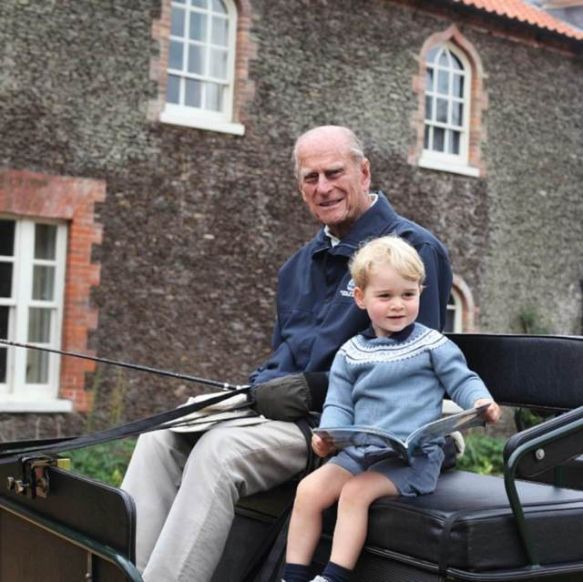 The Duchess of Cambridge has not been seen since news of Prince Philip's death was announced last week but the official Kensington Royal Instagram account shared a photo of the Duke of Edinburgh with Prince George in tribute