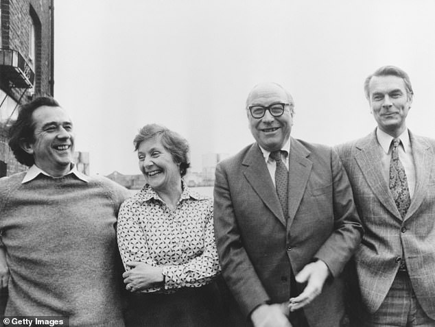 Shirley Williams (second left) was a former Education Secretary under James Callaghan who, along with (left to right) William Rodgers, Roy Jenkins and David Owen, quit Labour after its defeat by Margaret Thatcher in the 1979 election.
