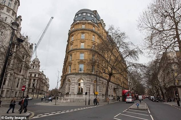The achievement means Noble will now pay for Lingard to stay at the Corinthia Hotel (pictured)