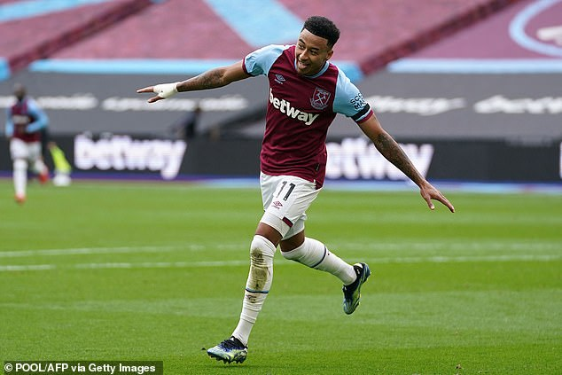 Lingard's fine form at West Ham continued with two goals taking his tally to eight last weekend