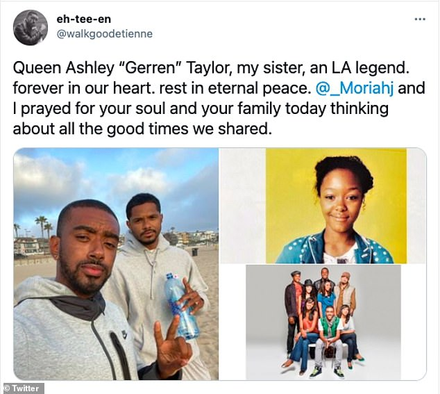 Gerren's Baldwin Hills teammate Etienne Maurice tweeted he was thinking of all the good times they shared, writing: 'I prayed for your soul and family today'