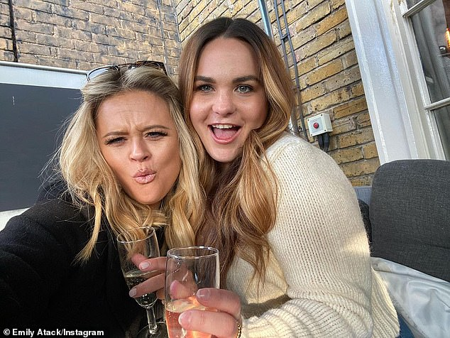 Giddy! Another celeb marking the occasion was Emily Atack, who posted a snap to Instagram
