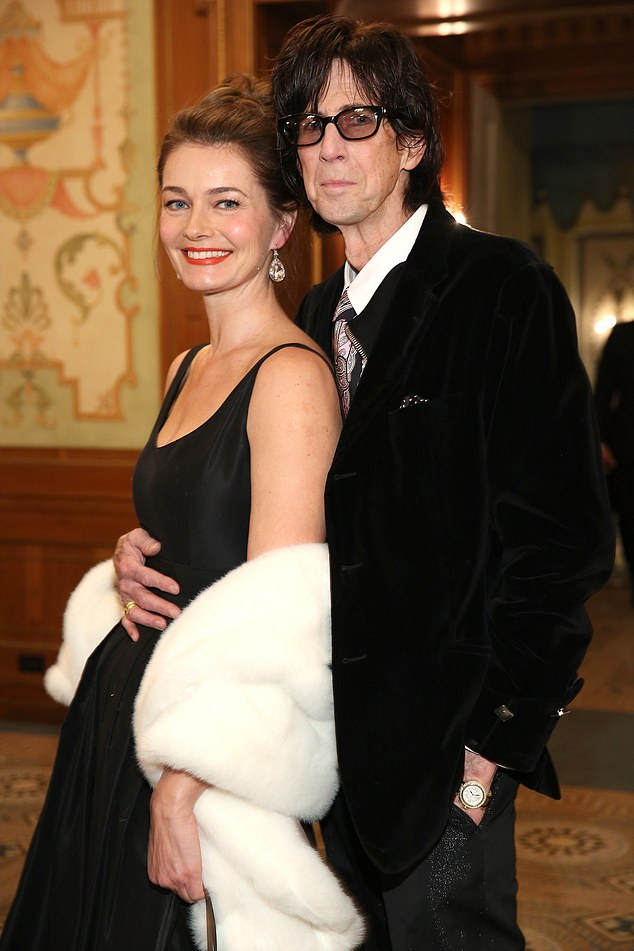 Looking back: Paulina was married to The Cars frontman Ric Ocasek for almost 20 years, however they quietly split in 2017, and he passed away in September 2019 before the divorced