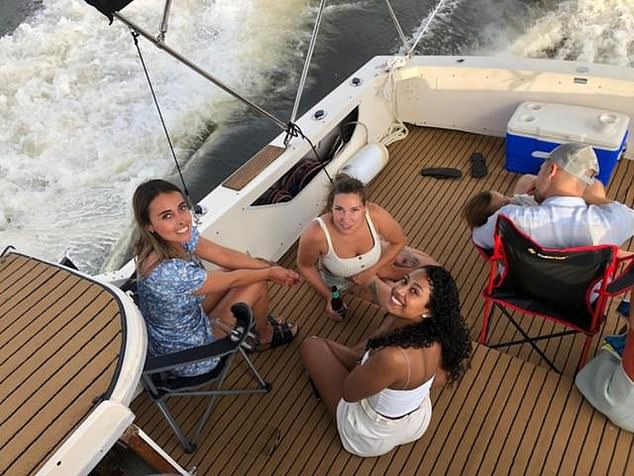 Mirka, Karoline and Ale were photographed sitting on the back of the boat just 30 minutes before the tragedy struck