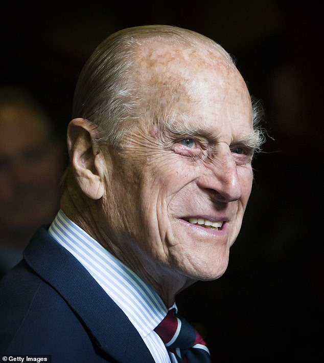 Rest in peace: Prince Philip, the Queen's husband for more than 70 years, died on Friday at Windsor Castle, aged 99, two months before his 100th birthday. Pictured in July 2015