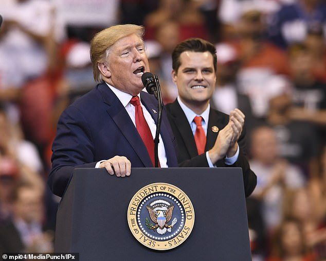 Similarly, Matt Gaetz 's team has also furiously denied that he sought a meeting with Trump but was turned down