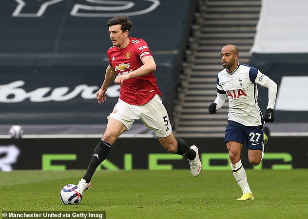 United believe Varane fits the profile of the defender they need to play alongside captain Harry Maguire (left)