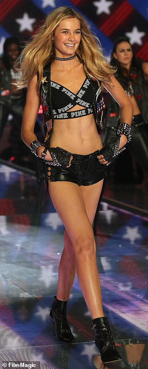 Star: The Perth native featured in two Victoria's Secret Fashion Shows, in 2015 (pictured) and in 2016