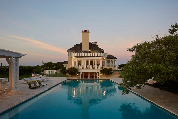 The most expensive current Hamptons listing is an oceanfront estate on Meadow Lane in Southampton which comes with a $175 million asking price (above)