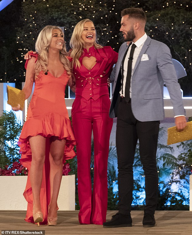 Delayed: The launch date of Love Island 2021 has been delayed by three weeks due to overseas travel restrictions as ITV confirm they plan to base the show in Majorca (Love Island winter 2020 winners Paige Turley and Finn Tapp pictured with host Laura)