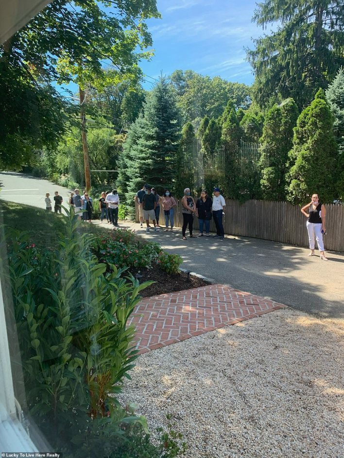 It's become a common occurrence to see a stream of people line up around the block for open houses, with a typical event bringing in around 40 potential buyers compared to pre-pandemic numbers of just four or five