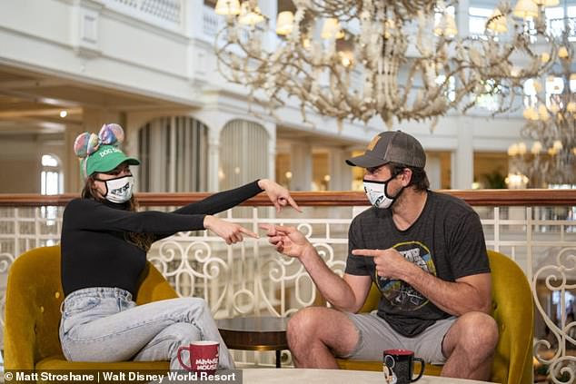Mushy: Shailene Woodley and fiancé Aaron Rodgers shared a few cute moments as they answered some fun questions during their visitWalt Disney World Resort in Lake Buena Vista, Florida this month