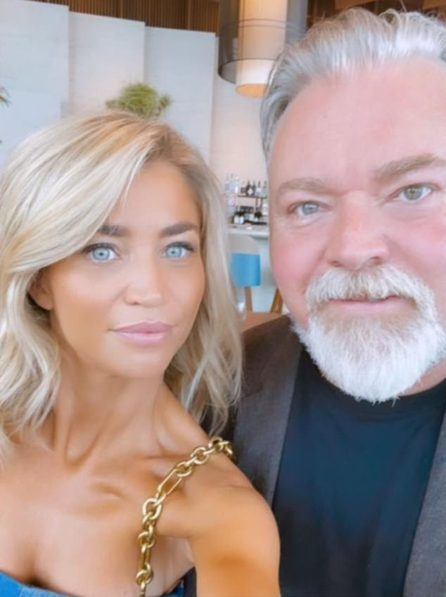 Workplace romance: The former Australian Idol judge is actually dating one of the senior staff members of his company: communications director Tegan Kynaston (left)