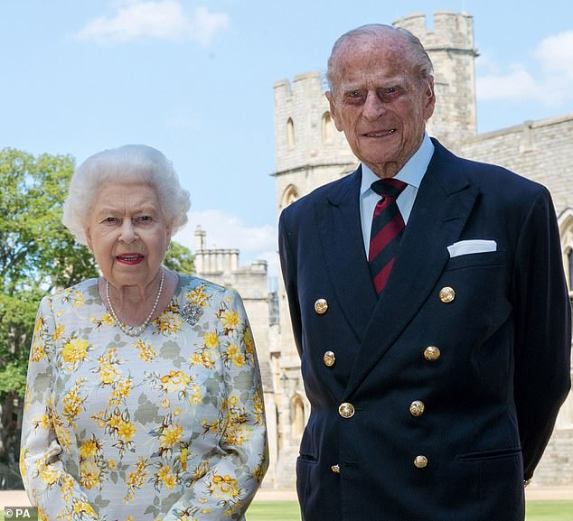 RIP: Prince Philip [pictured with the Queen in June last year] died at the age of 99 on Friday at Windsor Castle