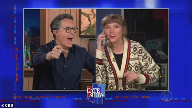 """Phone call: """"Wait, I have to figure this out,"""" Taylor said as she was interrupted by a call.  """"Oh, it's Stephen King.  I have to go.  Hey, Stephen!"""