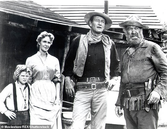 Aaker also appeared in the 1952 film The Atomic City, with Barbara Stanwyck in the 1953 film Jeopardy and with John Wayne in the 1953 film Hondo (pictured)