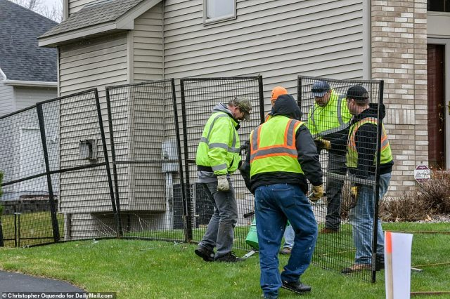 A police source said they anticipate protests and are taking precautions to prevent the home being wrecked