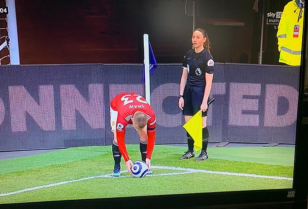 Iranian state TV censored their live broadcast of Tottenham vs Manchester United because of female assistant refereeSian Massey-Ellis (right)