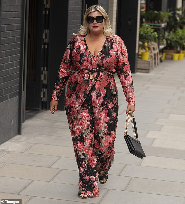 Looking good: Gemma Collins made sure she gained attention for all the right reasons on Wednesday as she continued to show significant progress on her quest to lose weight