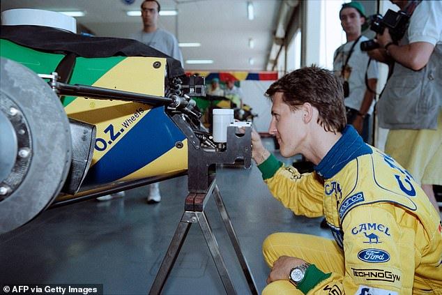 A young Michael Schumacher could not fend off Prost and failed to overtake Senna for second