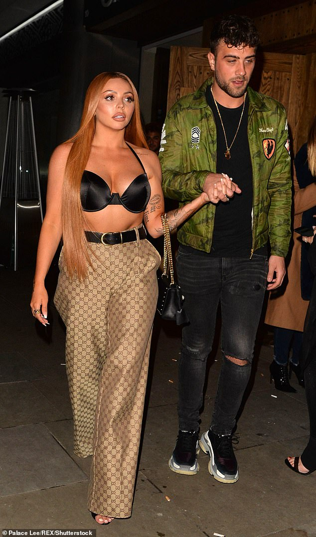 Go back on?  Jesy last month sparked speculation that she rekindled her romance with ex-boyfriend Harry James, weeks after her split from Sean Sagar