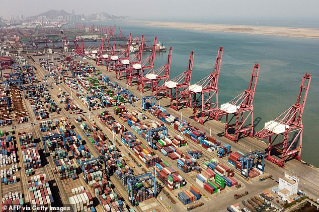 China has returned to growth even as the rest of the world economy remains in tatters due to lockdowns to prevent the spread of Covid (file)