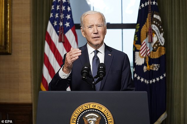 President Joe Biden (pictured April 14) announced earlier this month his plan to withdraw the 2,500 remaining U.S. troops in Afghanistan on September 11.