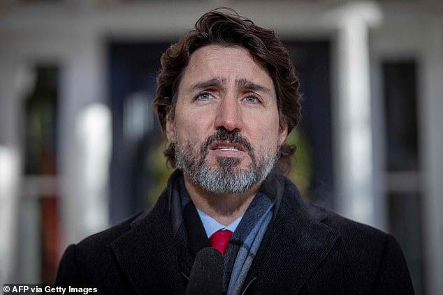 2020: Canadian Prime Minister Justin Trudeau speaks during a Covid-19 briefing at the Rideau Cottage in Ottawa, Ontario, in December, 2020, almost a year into the pandemic