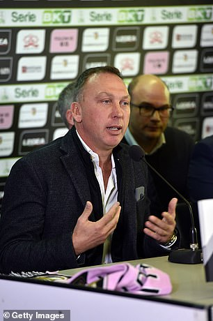 Platt answers questions at a Palermo press conference