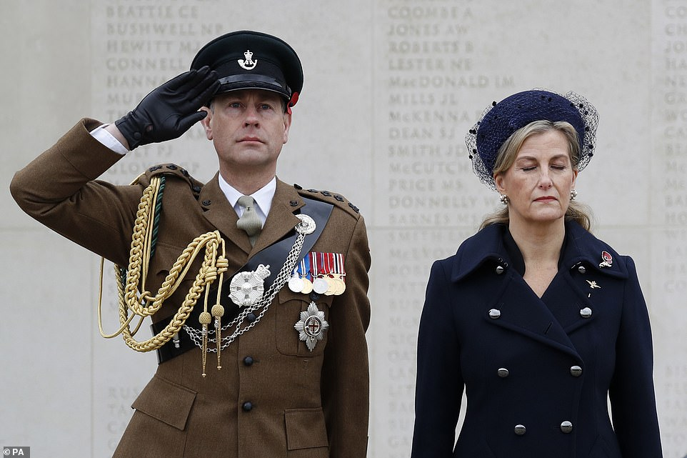The Earl and Countess of Wessex (pictured last November) will both be attending the funeral at Windsor Castle on Saturday