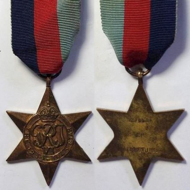 1939-1945 Star: This star is a campaign medal of the British Commonwealth awarded for service during the Second World War