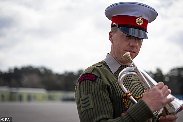 The bugler leading The Last Post at the Duke of Edinburgh's funeral, Sergeant Jamie Ritchie