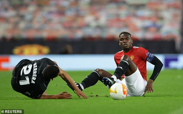 As a result, he was taken off at half-time - despite being named as the Man United captain