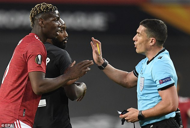 Paul Pogba got into dangerous territory, having picked up a yellow card in the first-half
